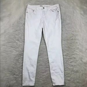 Old Navy Womens White Skinny Denim Jeans